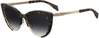 Moschino Mirrored Cat-Eye Sunglasses