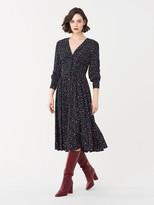 Diane von Furstenberg Peony Crepe Midi Dress
