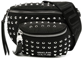 Versace Spike-Embellished Belt Bag