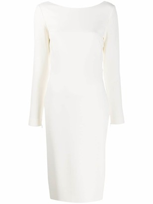 Tom Ford Open-Back Fitted Midi-Dress