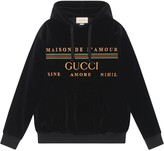 Gucci embroidered logo detail hoodie