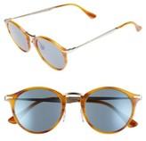 Persol Men's Sartoria Typewriter 51Mm Polarized Sunglasses - Striped Brown/ Light Blue
