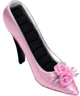 Asstd National Brand Pink Satin Pump Ring Holder