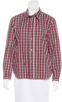 A.P.C. Plaid Button-Up Top