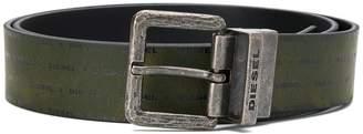 Diesel all-over logo belt