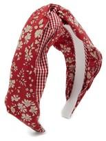 Benoit Missolin Eugenie Floral-print Twill Headband - Womens - Red Print