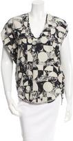 Zero Maria Cornejo Printed Short Sleeve Top