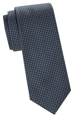 Saks Fifth Avenue Made In Italy Pin Dot Silk Tie