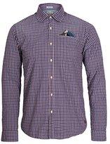 Scotch & Soda Men's Denim Checks and Solid Serie Shirt