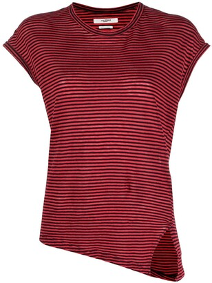 Etoile Isabel Marant asymmetric striped T-shirt