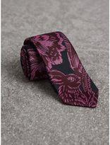 Burberry Slim Cut Beasts Silk Jacquard Tie