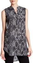 Acrobat Cobra Print Sleeveless Silk Tunic