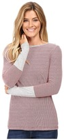 Mod-o-doc Mini Stripe Long Sleeve Tee w/ Heather Contrast