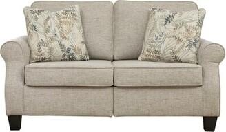 "Winston Porter Gurnam 61"" Round Arm Loveseat with Reversible Cushions"