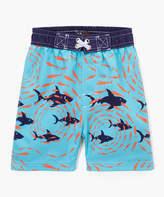 Nano Blue Shark & Fish Swim Trunks - Infant, Toddler & Boys