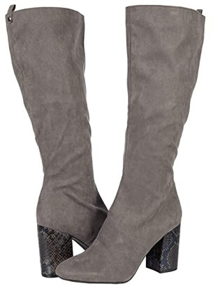 Kenneth Cole Reaction Corey Tall Boot (Black Microsuede) Women's Shoes