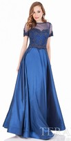Terani Couture Lace and Taffeta Two Piece Evening Gown