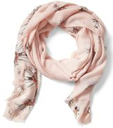 Banana Republic Floral Rectangular Scarf