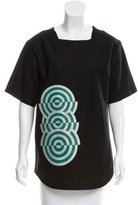 Dries Van Noten Abstract Print Wool Top