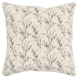 """Rizzy Home Floral Polyester Filled Decorative Pillow, 20"""" x 20"""""""