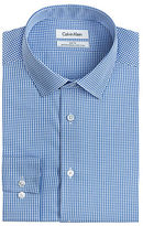 Calvin Klein Steel Slim Fit Micro Check Dress Shirt