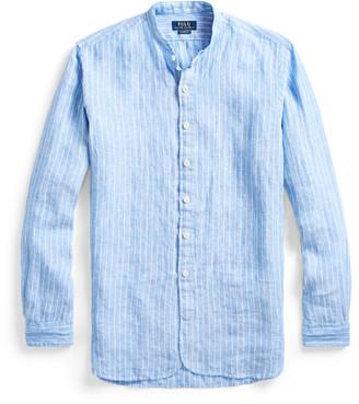 Ralph Lauren Slim Fit Striped Linen Shirt