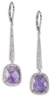 Meira T Tanzanite, Diamond& 14K White Gold Drop Earrings