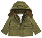 Burberry 'Lockie' Hooded Field Jacket with Quilted Liner (Baby Boys)