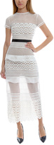Self-Portrait Oblique Lace Column Dress