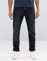 Esprit Straight Fit Jeans In Black Washed Denim