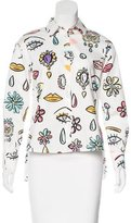 Moschino Eye Print Button-Up Top