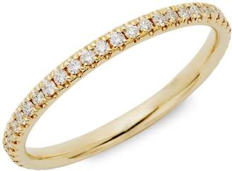 Saks Fifth Avenue 14K Yellow Gold & Diamond Eternity Band