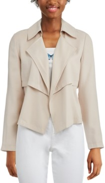 Bar III Open-Front Trench Jacket, Created for Macy's