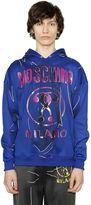 Moschino Hooded Shadow Cotton Blend Sweatshirt