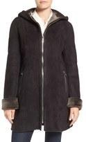 Blue Duck Women's Hooded Genuine Shearling Coat