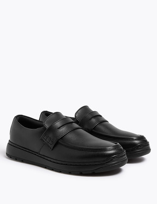 Marks and Spencer Kids Light As Air Leather Slip On Loafers School shoes (13 Small - 9 Large)