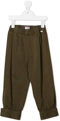 Il Gufo Buttoned-Cuffs Slip-On Trousers