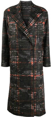 AllSaints Lottie long checked coat