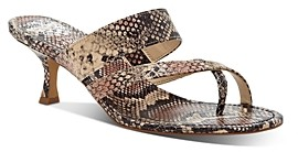 Vince Camuto Women's Moentha Snake-Embossed High-Heel Sandals