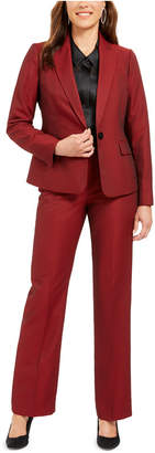 Le Suit Single-Button Straight-Leg Pants Suit