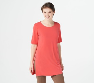 Susan Graver Every Day by Petite Liquid Knit Tunic w/ Slits