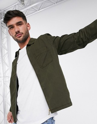Paul Smith light weight zip through jacket in khaki