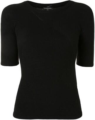 2002 fluffy-knit T-shirt