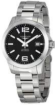 Longines Conquest L36764586 39mm Automatic Silver Steel Bracelet & Case Synthetic Sapphire Men's Watch