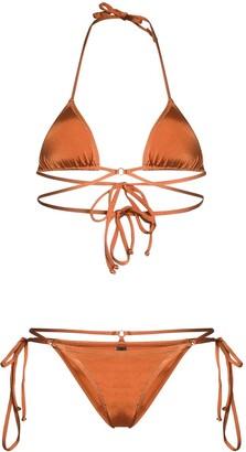 Reina Olga Goldie wrap around bikini
