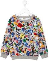 Kenzo badges print sweatshirt - kids - Cotton - 10 yrs