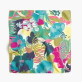 J.Crew Italian silk square scarf in seaside floral