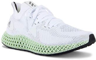 adidas Alpha Edge 4D Sneaker in Core Black & Silver & Core Black | FWRD