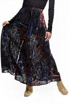 Free People Women's Velvet Burnout Maxi Skirt