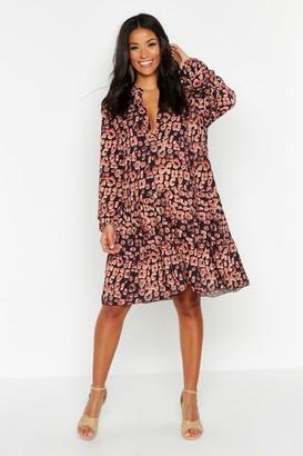 boohoo Maternity Leopard Print Smock Dress